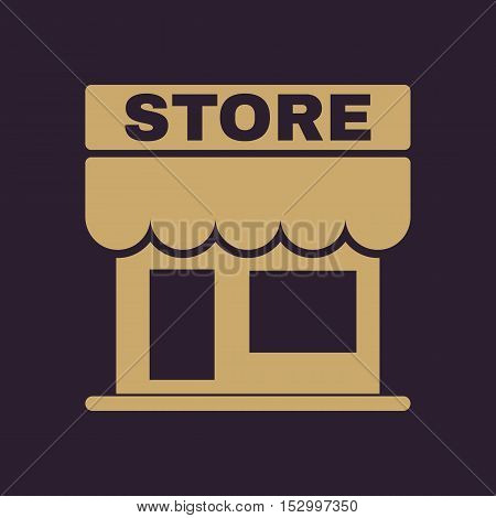 The store icon. Shop and retail, market symbol. Flat Vector illustration