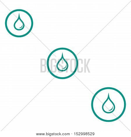 Stylized Icon Of The Three Colored Fuel Droplets Silhouette In Circles