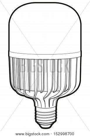 Big led lamp. Drawing modern LED lamp. LED lapm sign