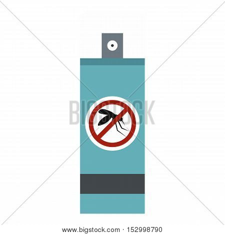 Mosquito repellent spray icon. Flat illustration of repellent spray vector icon for web design