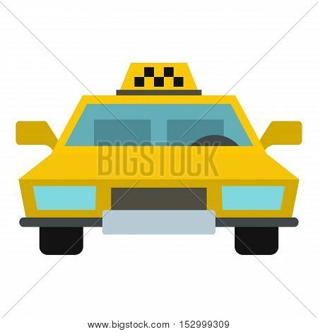 Taxi icon. Flat illustration of taxi vector icon for web design