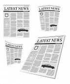 vector newspaper set