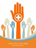 stock photo of hands up  - Positive people design vector - JPG