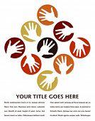 Постер, плакат: Рука круги дизайн с копией пространства