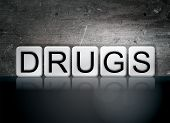 Drugs Tiled Letters Concept And Theme poster