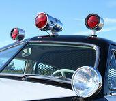 Постер, плакат: Винтажные полицейских автомобилей сирены