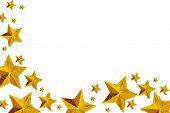 Постер, плакат: Золотой рождественские звезды изолированные на белом