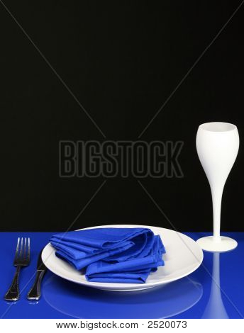 Blue Dinner Table