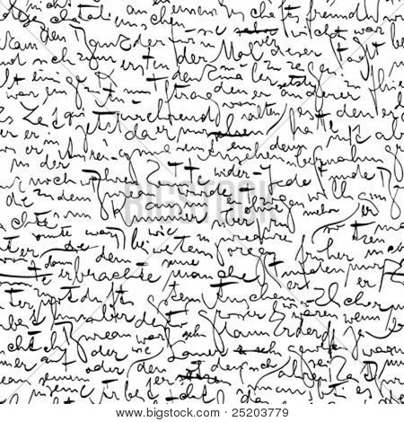 Seamless vector wallpaper based on Kafka's manuscript
