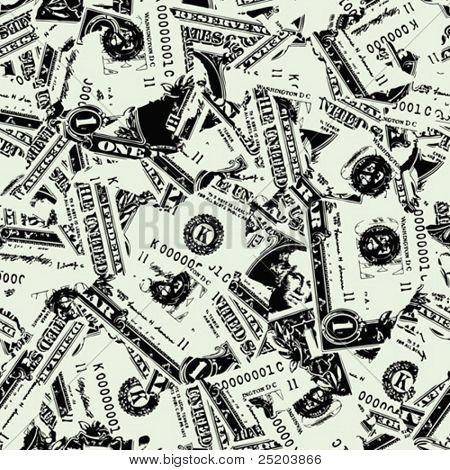 Dollars. Seamless vector wallpaper