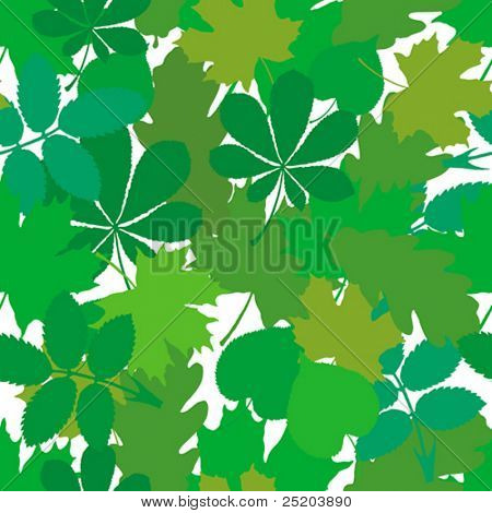 Leaves. Seamless vector wallpaper