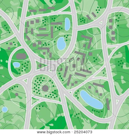Seamless vector wallpaper. Map roads