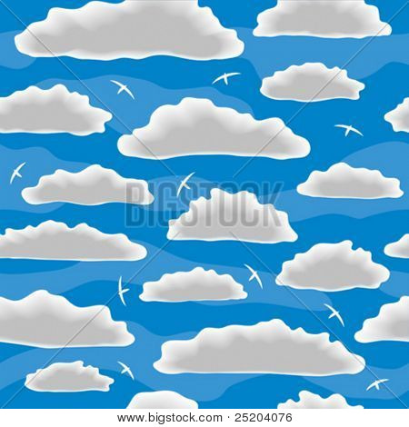 Wolken. Naadloze vector behang
