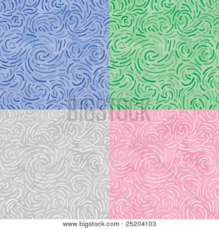 Abstract swirl ornament. Seamless vector wallpaper. Colors easy for change