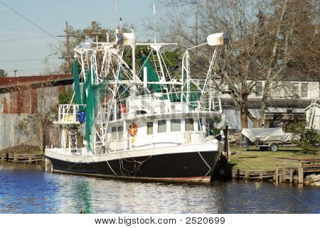 Shrimp Boat In Bayou