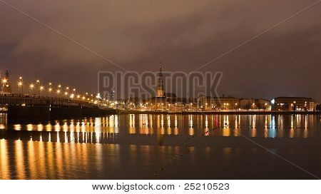 Riga Night Scene