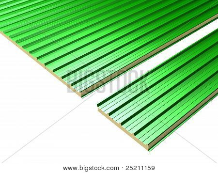Connection of green Roof Panels
