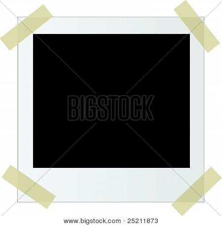Photo frame with stickers