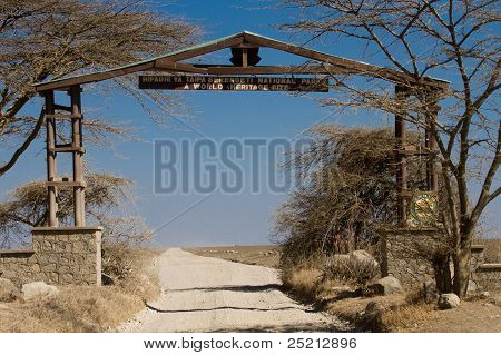 Entrance Gate Of The Serengeti National Park
