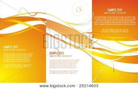 Three autumn abstract background