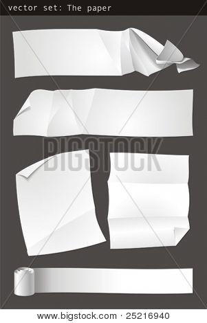 vector de papel
