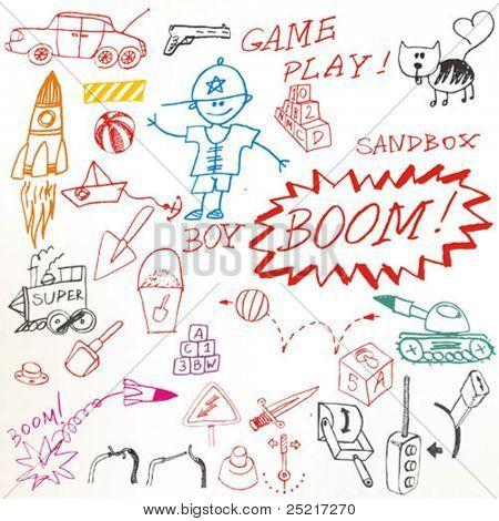 Doodle set - game