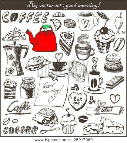 Doodle set - good morning!