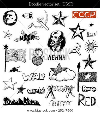 vector set : doodle - USSR
