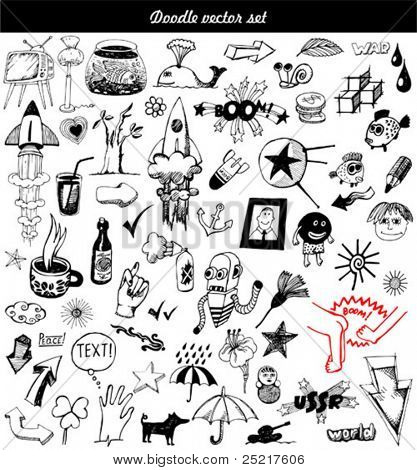 gran vector set - doodle