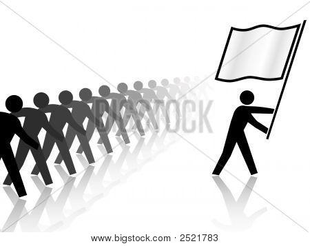 People Leader Carries Flag Forward