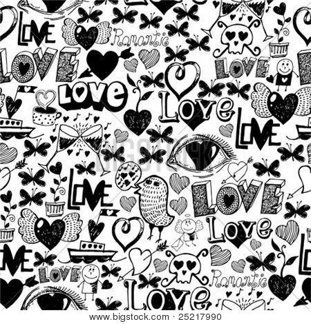 Seamless Pattern - Liebe