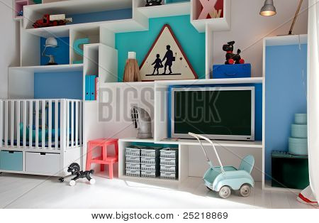 Child Room In Retro Style