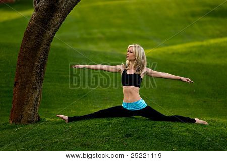 Yoga Splits In The Park