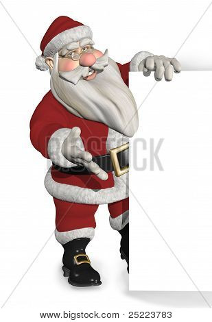 Santa Standing Near A Border