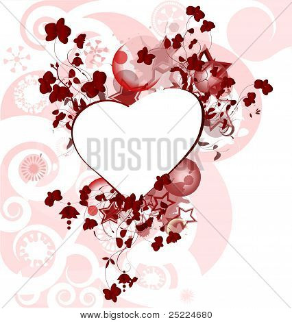 Valentine's Day design with the hearts
