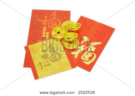 Chinese New Year Ornaments And Red Packets