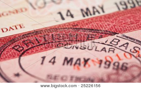 British Visa Stamp In Your Passport