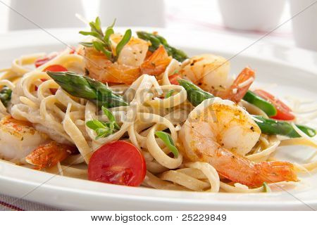 Whole Grain Shrimp Pasta