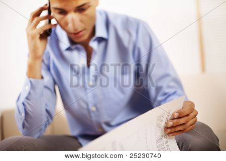 Businessman Talking On Mobile Phone