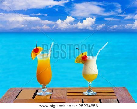 Two Cocktails On Table