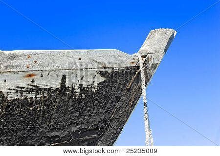 Prow Of The Wooden Boat