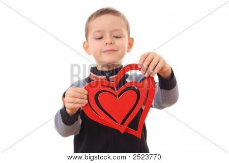 Menino com coração grande