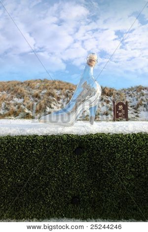 Glass Slipper On Step To A Tee Marker Sign