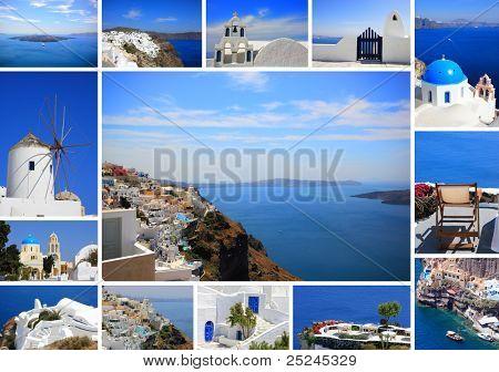 Fotos de verano de Santorini Grecia