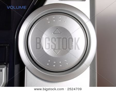 Silver Boom Box Stereo Volume Button