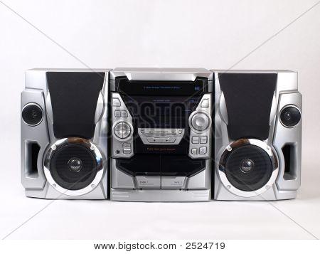 Estéreo plata Boom Box