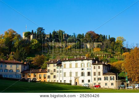 the Fara and the Rocca, Bergamo, Italy