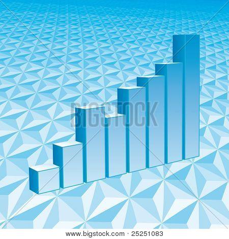 Vector blue Graph
