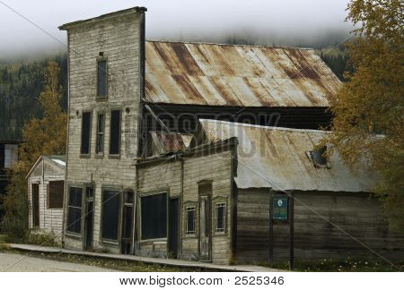 Historic Buildings In Dawson City, Yukon Territory, Canada