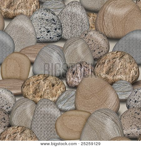 Pebble Rocks Seamless Tile Background